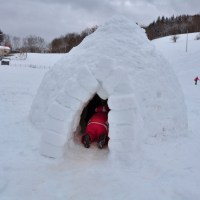 Le Vallon de Tamie - version hiver - luge, igloo ! [EnFranceAussi]