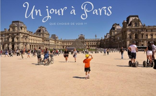 Un jour a Paris : que choisir de voir ???