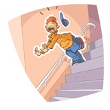 chute Escalier