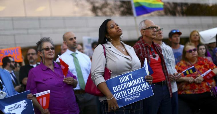 Protestors against anti-LGBT laws