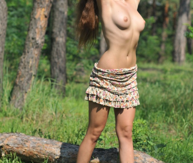 Nude Teen Girl Taken Different Pose Photo In Forest