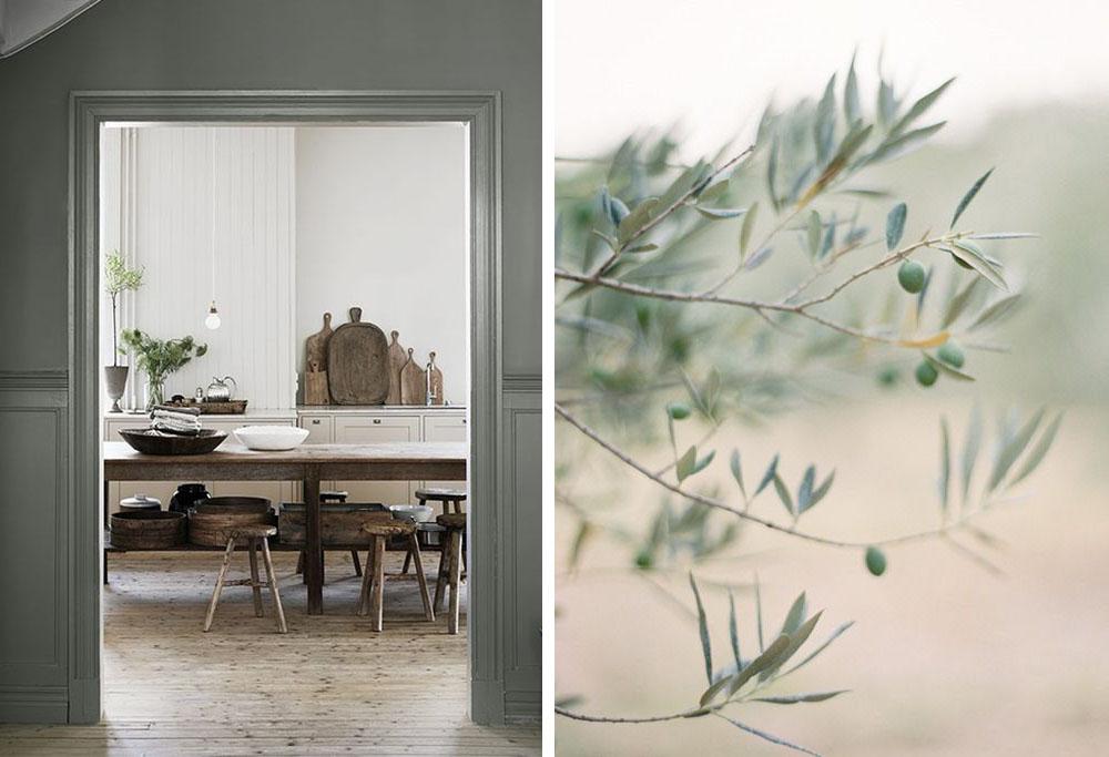 Cuisine vert olive elegant dcoration peinture vert olive - Mur vert olive ...