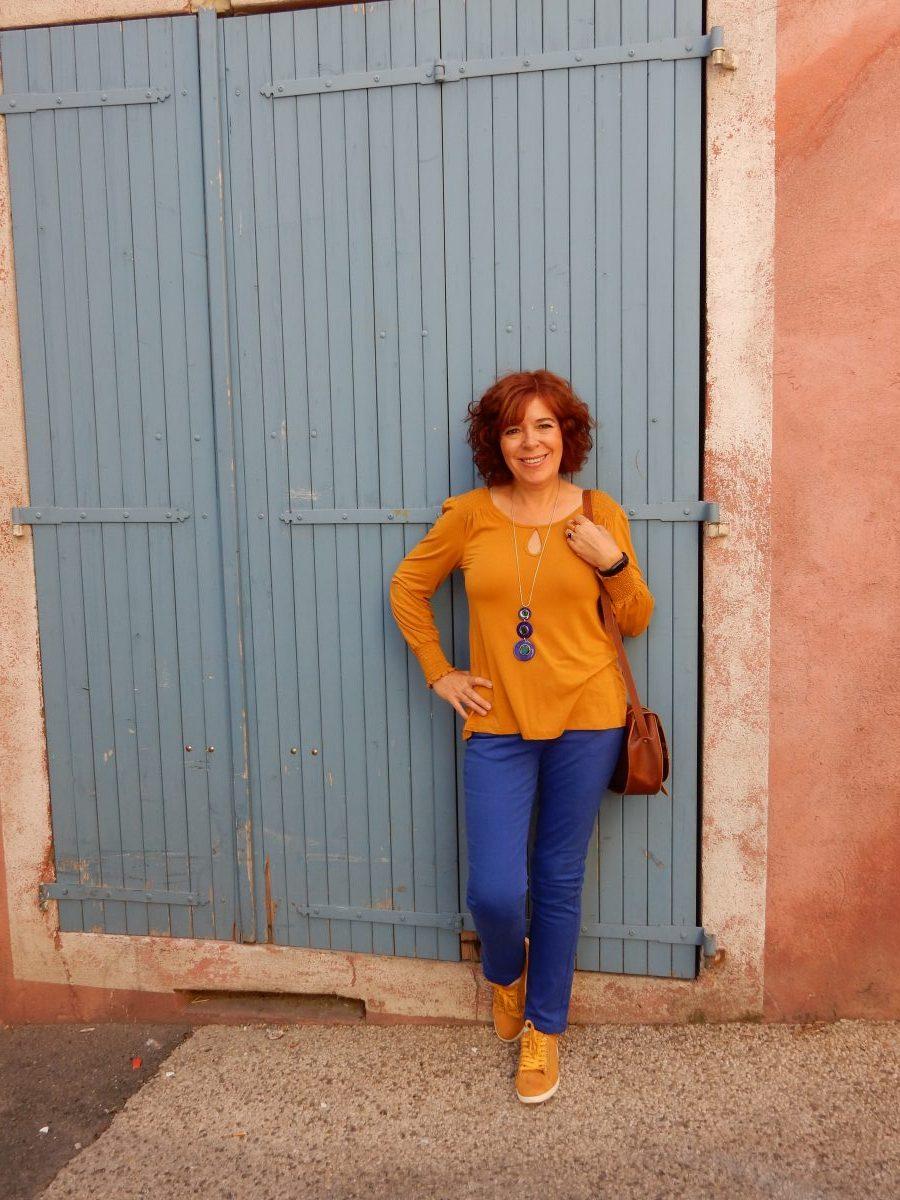 mode- femme - automne - blanche porte