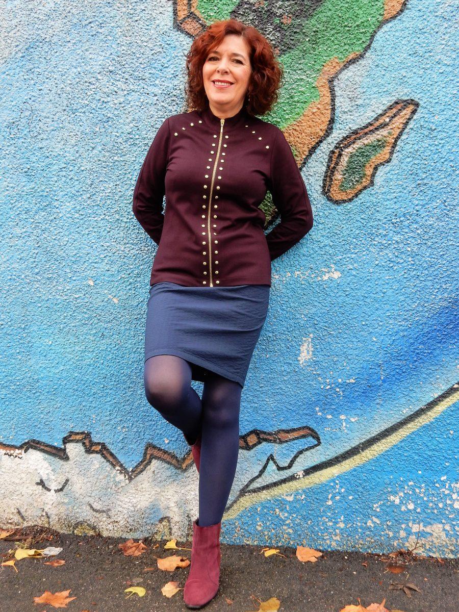 bleu d'azur - mode - femme - chic - classe