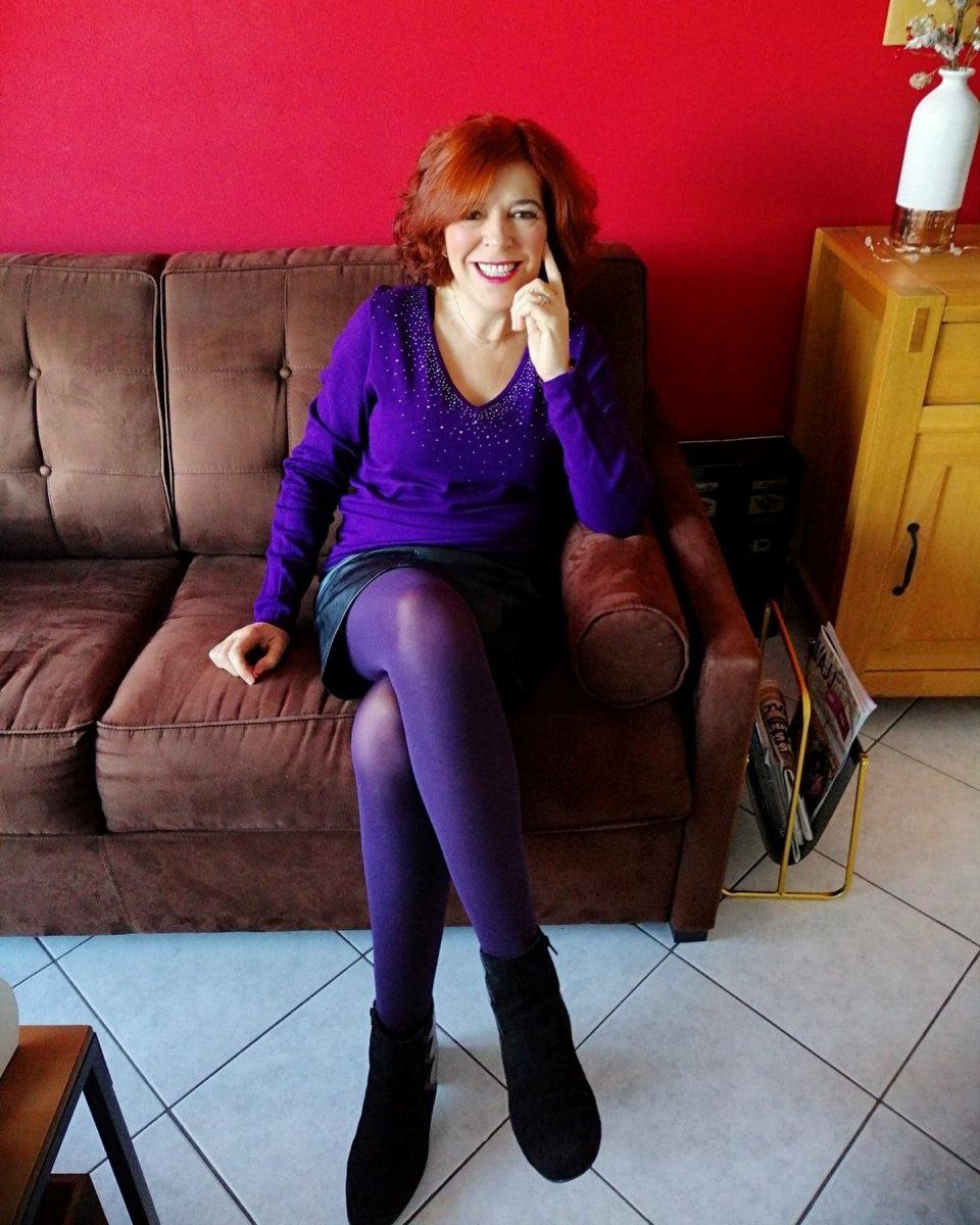 violet - couleur - mode - femme - christine laure - bleu bonheur - modange - caroll - le bourget