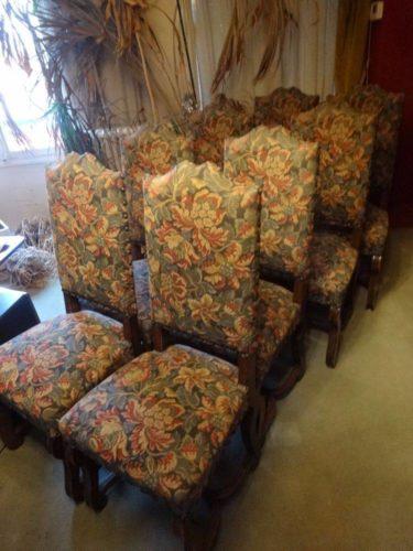 huit chaises de style louis xiii