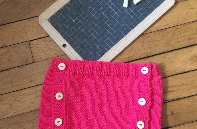 bloomer culotte courte tricot facile rapide
