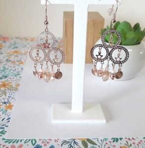 Boucles d'oreilles or rose Shahrazade