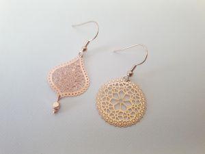 Boucles d'oreilles or rose Dissociées