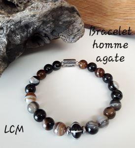 Bracelet homme Pierre Agate