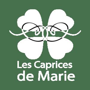 logo blanc transparent - Les Caprices de Marie