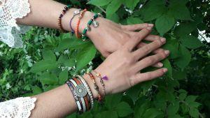 Collection Talisman bracelets perles et cuirs