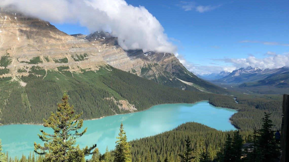 The Rocky Mountains: Banff to Jasper (via the icefields parkway).