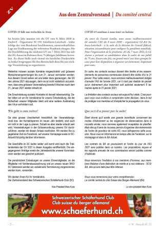 Informations du Comité Central Covid-19 2021