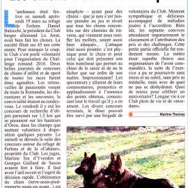 """Article """"Le Courrier"""" sur le Challenge Romand 2016"""