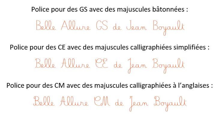 écriture cursive libreoffice
