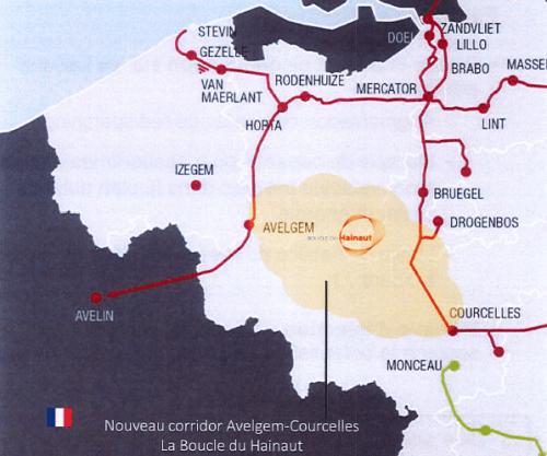 Deux tracés se dégagent, l'un qui longe le TGV au nord de de Brugelette, l'autre qui longe la route Pairi Daiza pour rejoindre le TGV au Coucou.