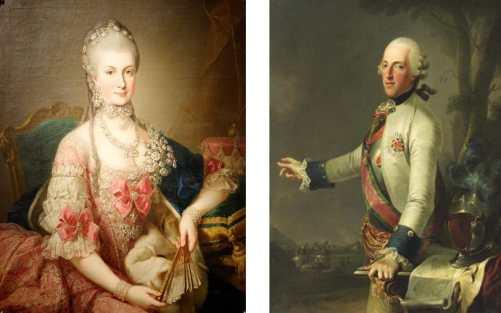 Le roher - Marie Christine d'Autriche et le duc de Saxe-Teschen