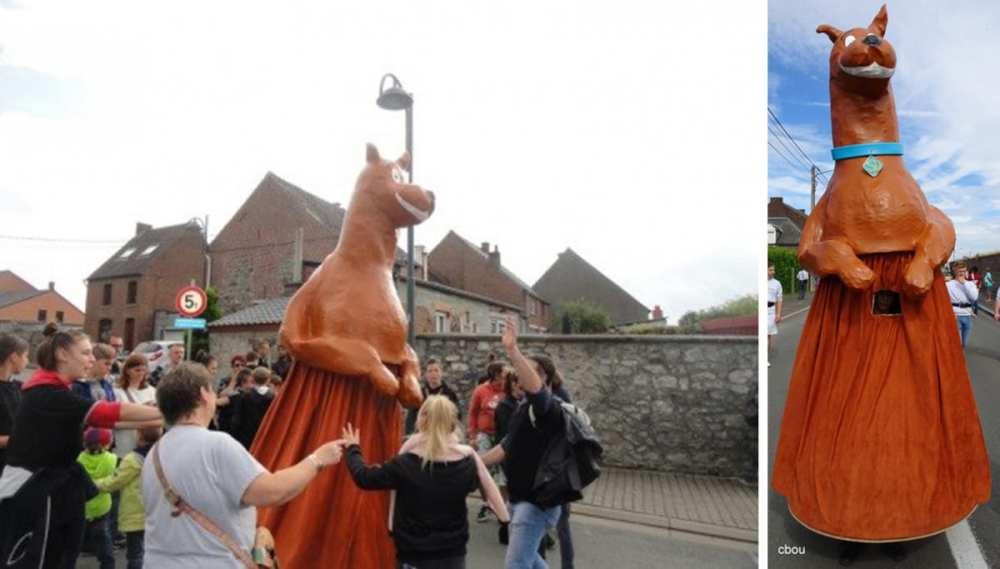 Le géant Scoubidou de l'IMP St Gertrude