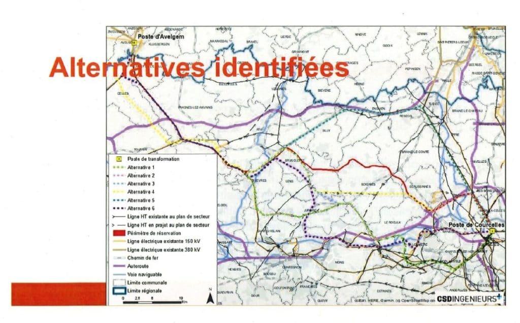 La carte détaillant le corridor