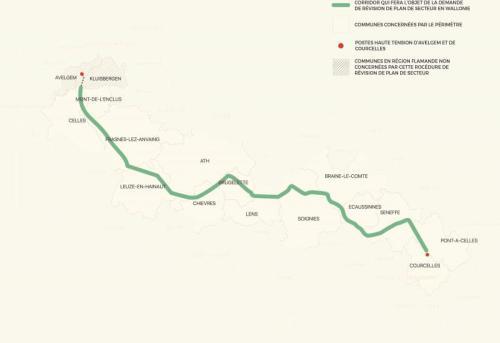 6GW - Le tracé du corridor Boucle du Hainaut