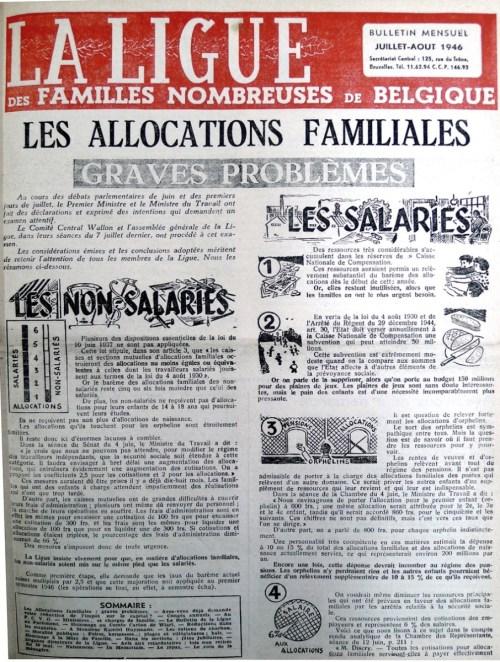 1946 les allocation familiales pour orphelins