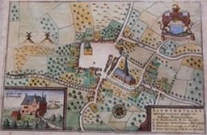 Gages - Ancien plan du village