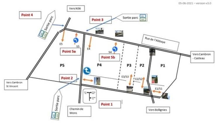 Tranquillité - plan de circulation