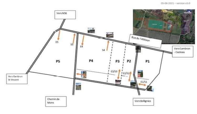 Les parking du Parc
