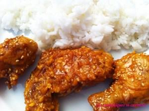poulet frit plat