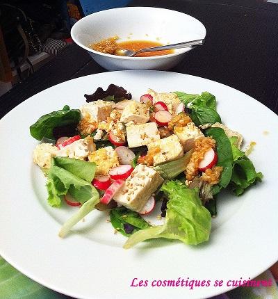 salade de tofu coréenne