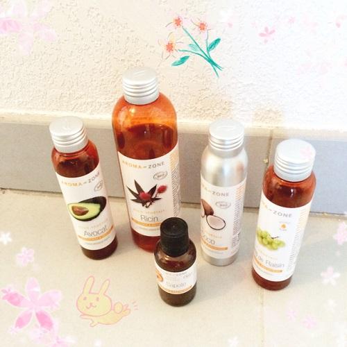 huile végétale aroma zone