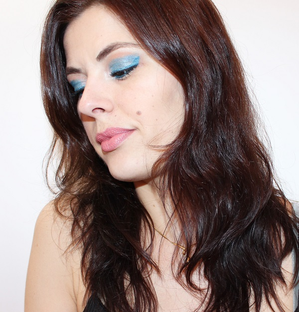 maquillage bleu turquoise monday shadow challenge