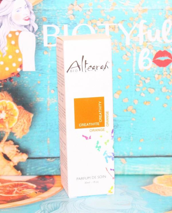 Eau de parfum de soin d'Altherah bio