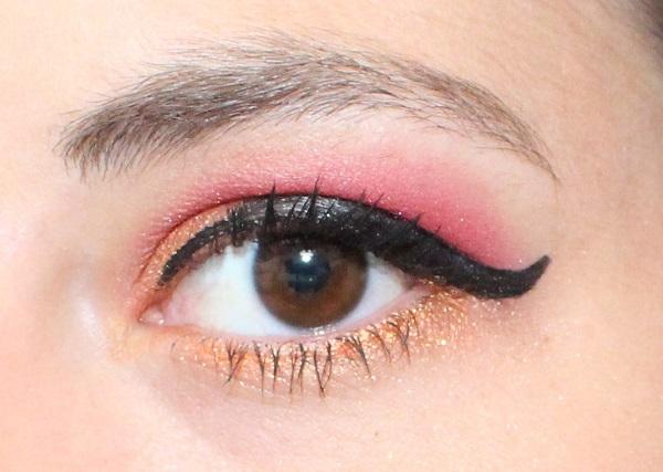 maquillage rouge et orange
