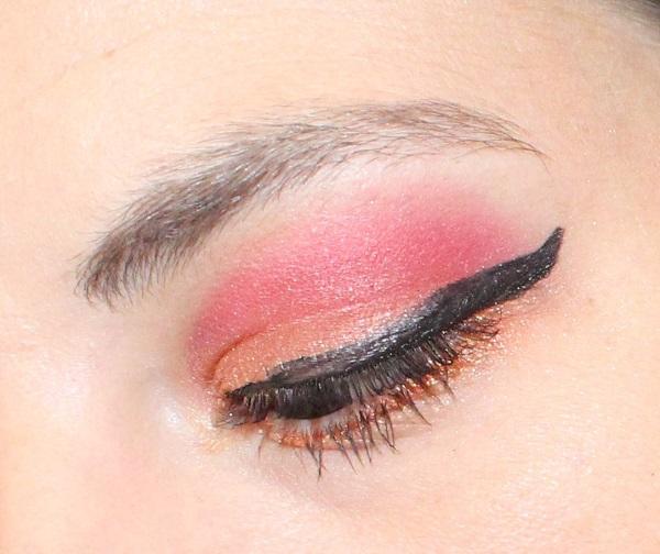 maquillage rouge et orange msc