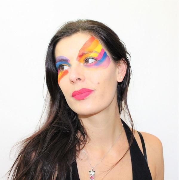 beauty defi maquillage arc en ciel