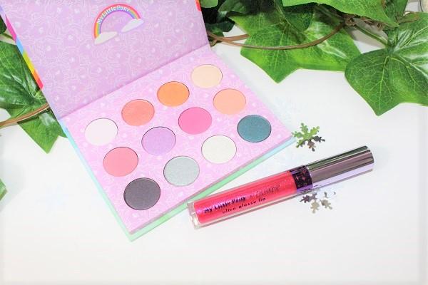 palette et ultra glossy lip dream castle colour pop
