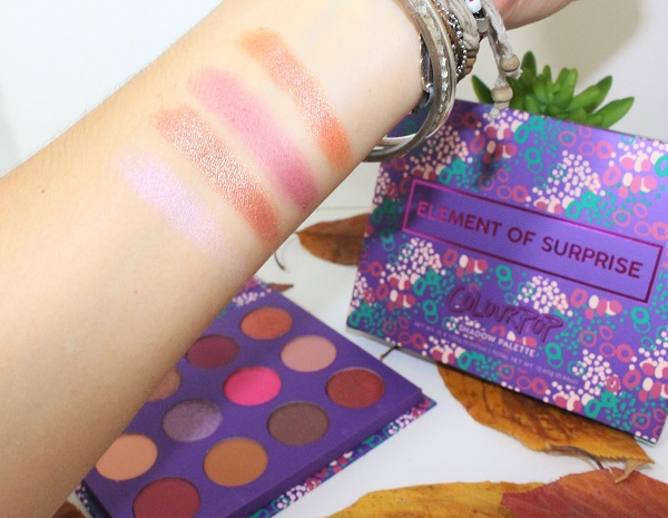 swatch element of surprise palette colour pop 1