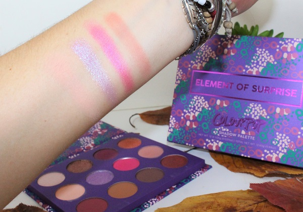 swatch element of surprise palette colour pop 2