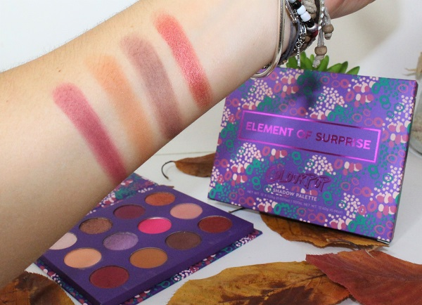 swatch element of surprise palette colour pop 3