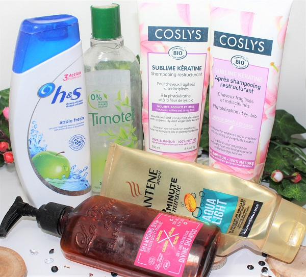 produits finis shampoings et apres shampoings