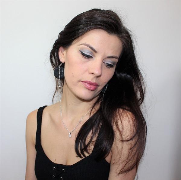 maquillage argente et rose pale monday shadow challenge