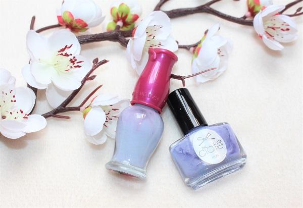 vernis a ongles pastels violet