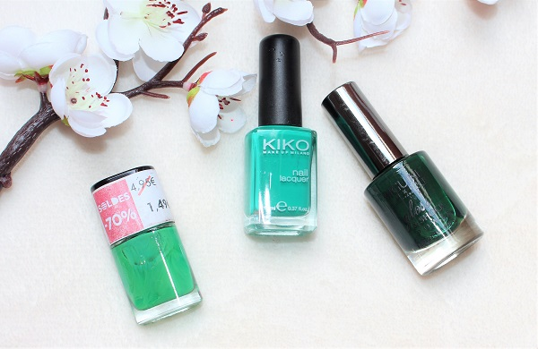 vernis a ongles verts