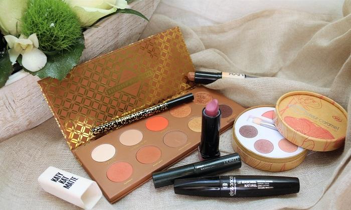 maquillage couleur caramel produits