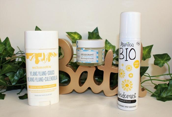 top 3 deodorants bio et naturels