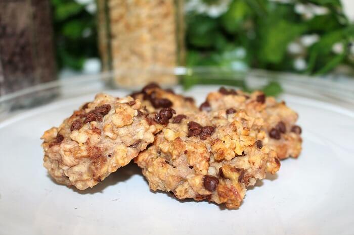 recette cookies banane avoine chocolat pour le sport