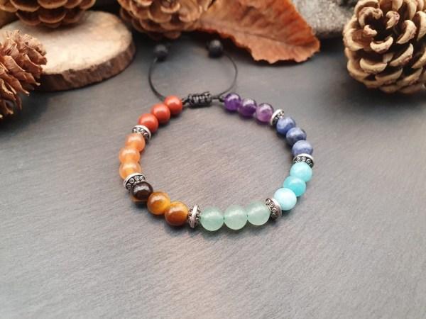 Bracelet 7 chakras pierre naturelle