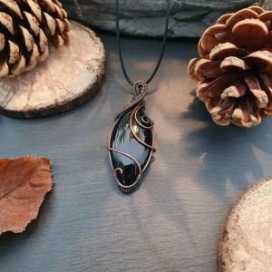 pendentif pierre naturelle onyx
